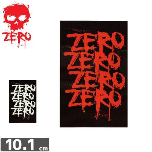 【ゼロ ZERO スケボー ステッカー】LOGO【2色】【10.1cm×6.5cm】NO44