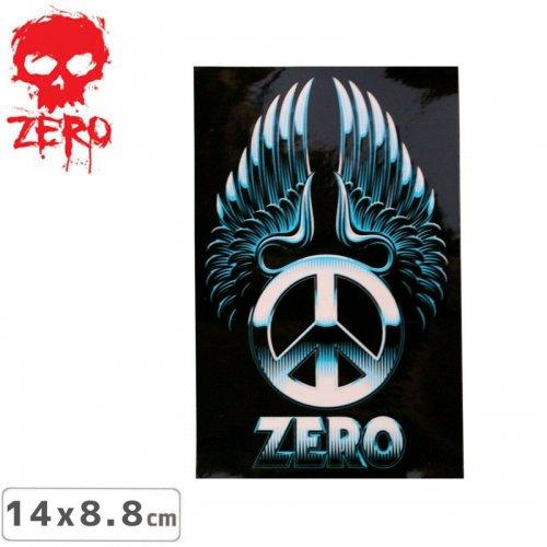 【ゼロ ZERO スケボー ステッカー】METAL PEACE【14cm × 8.8cm】NO45