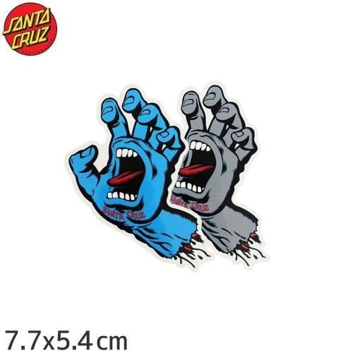 【スケボー ステッカー サンタクルーズ SANTACRUZ】SCREAMING HAND 2色【7.7cm x 5.4cm】No24
