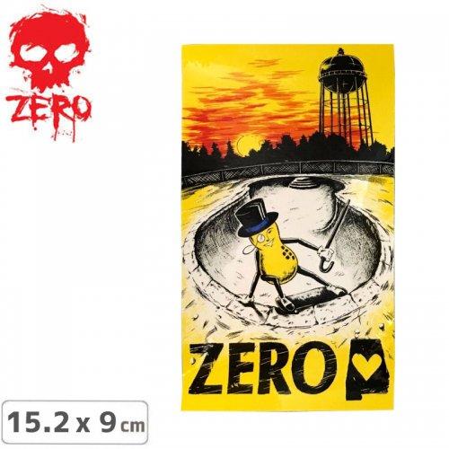 【ゼロ ZERO スケボー ステッカー】MR. PEANUT【15.2cm × 9cm】NO57