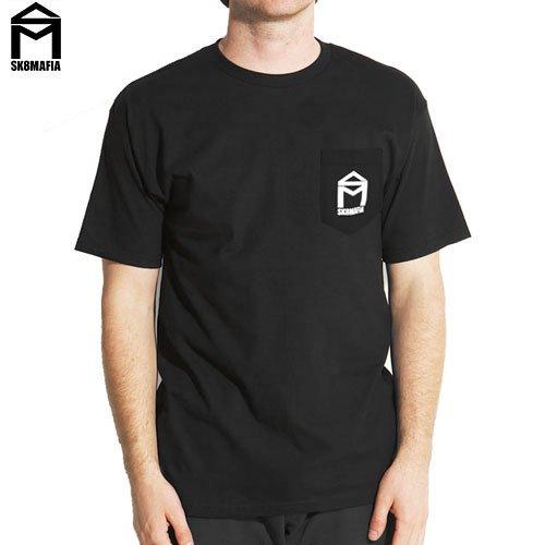 【スケートマフィア SK8MAFIA スケボー Tシャツ】SKATEMAFIA HOUSE POCKET TEE【ブラック】NO22