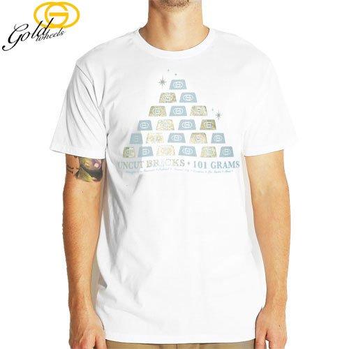【GOLD WHEELS ゴールド ウィール スケボー Tシャツ】WEIGHT TEE【XXLサイズ】【ホワイト】NO22
