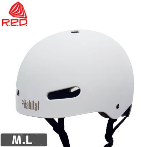 レッド RED スケートボード用 ヘルメット RIOT HABITAT CUSTOM HELMET【ホワイト】NO11