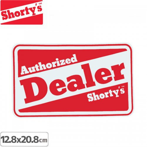 【ショーティーズ SHORTYS ステッカー】DEALER STICKER【12.8cm x 20.8cm】NO6