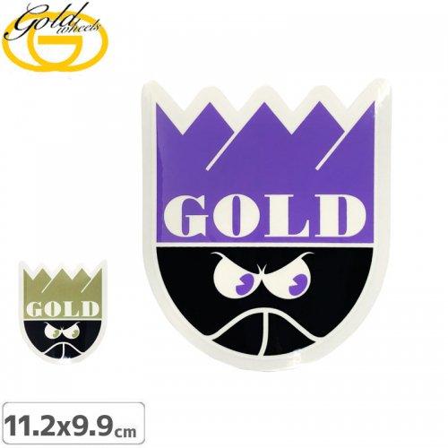 【ゴールド GOLD STICKER スケートボード ステッカー】GOLD【2色】【11.2cm x 9.9cm】NO16
