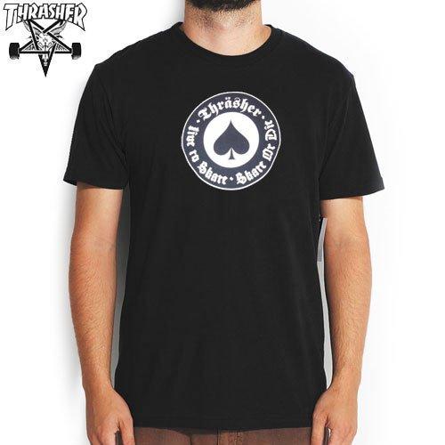 【スラッシャー THRASHER スケボー Tシャツ】US規格 THRASHER OATH TEE【ブラック】NO50