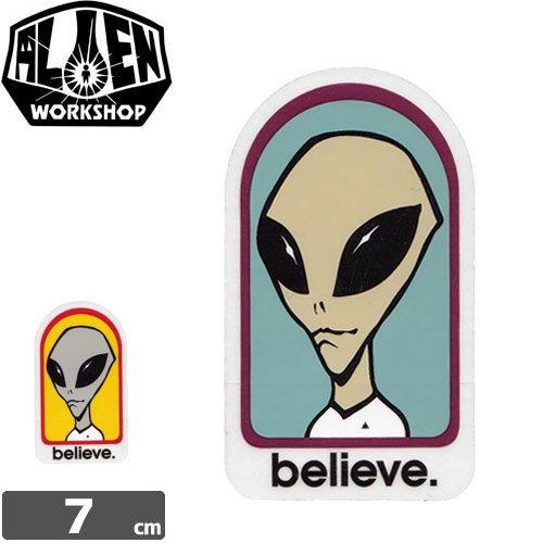 【エイリアンワークショップ ALIENWORKSHOP ステッカー】BELIEVE STICKER【2カラー】NO13