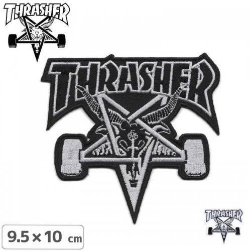 【スラッシャー THRASHER スケボーワッペン】US規格 Skate Goat【2色】【9.5cm×10cm】NO01