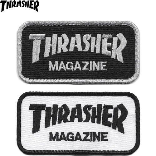 【スラッシャー THRASHER スケボーワッペン】USモデル Logo【2色】【5cm×10cm】NO02
