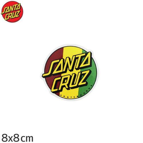 【サンタクルーズ SANTACRUZ スケボー ステッカー】RASTA DOT【8cm x 8cm】NO37