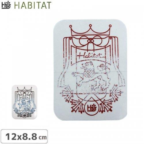 【HABITAT STICKER ハビタット ステッカー】【2色】【12cm x 8.8cm】NO2