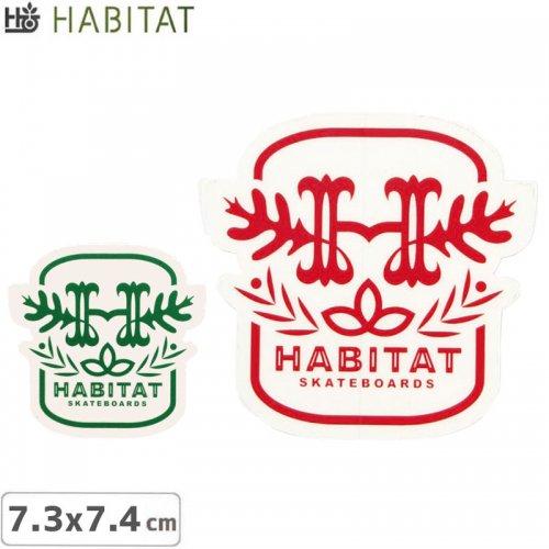 【HABITAT STICKER ハビタット ステッカー】H LOGO【2色】【7.3cm×7.4cm】No06