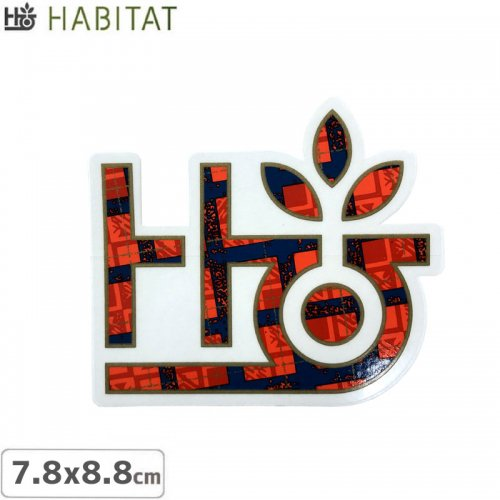 【HABITAT STICKER ハビタット ステッカー】LOGO【7.8cm x 8.8cm】NO12