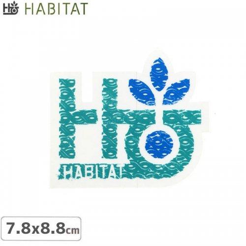 【HABITAT STICKER ハビタット ステッカー】LOGO【7.8cm x 8.8cm】NO19