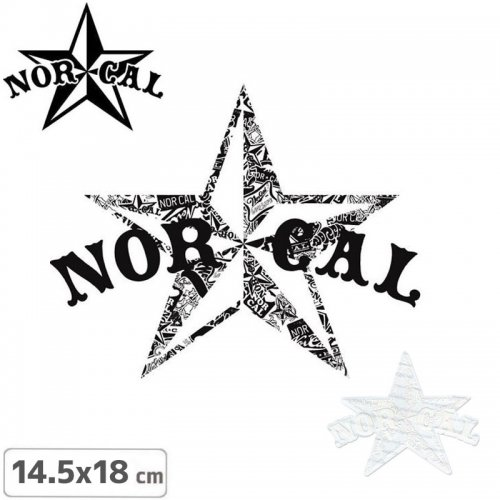 【ノーカル NOR CAL スケボー ステッカー】DRIFTER【2色】【14.5cm×18cm】NO11