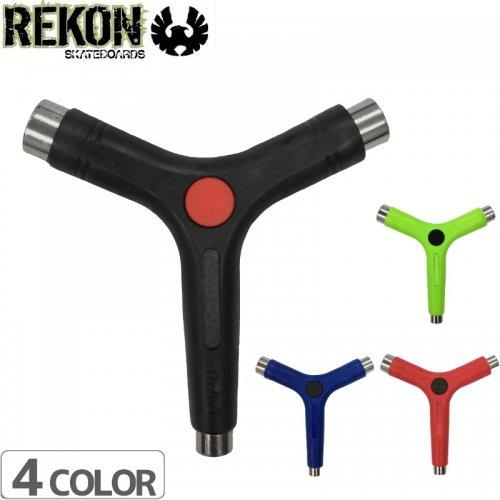 【REKON リーコン スケートボード ツール】REKON Y TOOL【ブラック】【ブルー】【レッド】【ライム】NO5
