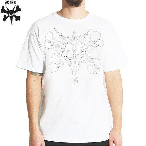 【ボーンズ BONES スケボー Tシャツ】PINSTRIPE TEE【ホワイト】NO25