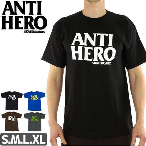 【アンタイヒーロー ANTIHERO スケボーTシャツ】BLACKHERO【4カラー】NO42