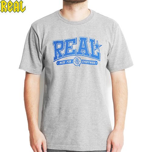 SALE! 【REAL リアル スケートボード Tシャツ】DROPOUT TEE【グレー ヘザー】NO14