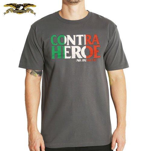 【アンチヒーロー ANTIHERO スケボー Tシャツ】MEXIHERO PREMIUM SLIM TEE【チャコール グレー】NO49