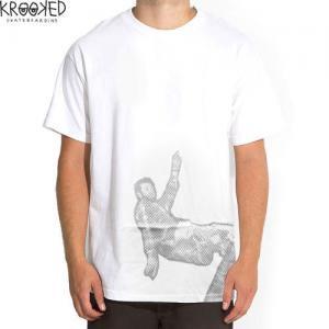 【KROOKED クルックド スケートボード Tシャツ】Gonz Frntrock【ホワイト】NO40