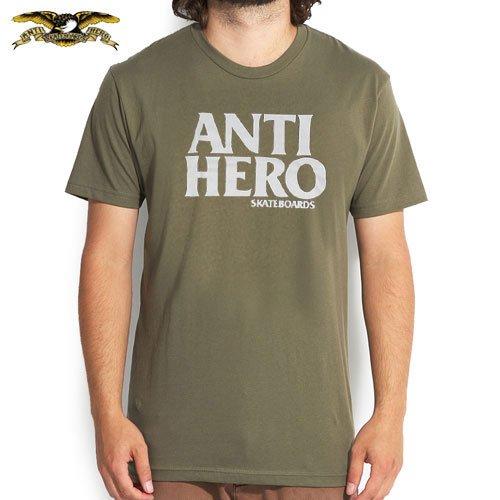 【アンチヒーロー ANTIHERO スケボー Tシャツ】BLACK HERO TEE【アーミー グリーン】NO55