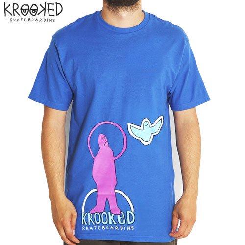 SALE! 【KROOKED クルックド スケートボード Tシャツ】GRUMPY BIRD TEE【ロイヤルブルー】NO53