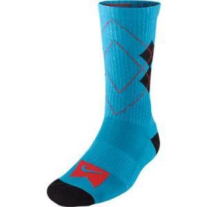 【ナイキ エスビー NIKE SB スケボーソックス】Argyle Skate Sock【ブルー】NO01