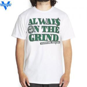 【ベンチャー VENTURE TRUCKS スケボー Tシャツ】CASH OUT TEE【ホワイト x グリーン】NO11