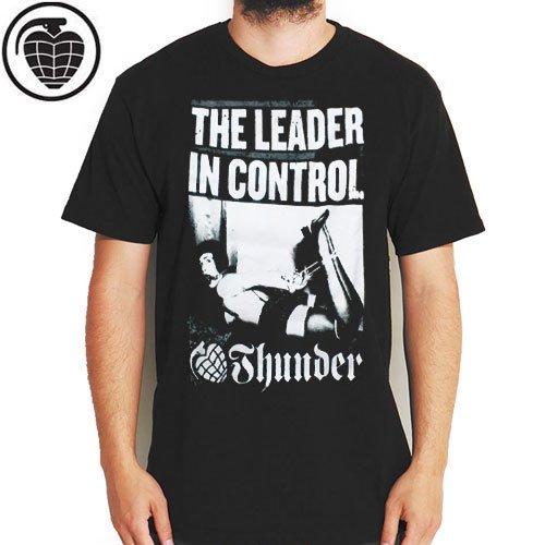 SALE! 【サンダー THUNDER スケボー Tシャツ】THUNDER THE LEADER TEE【ブラック】NO44