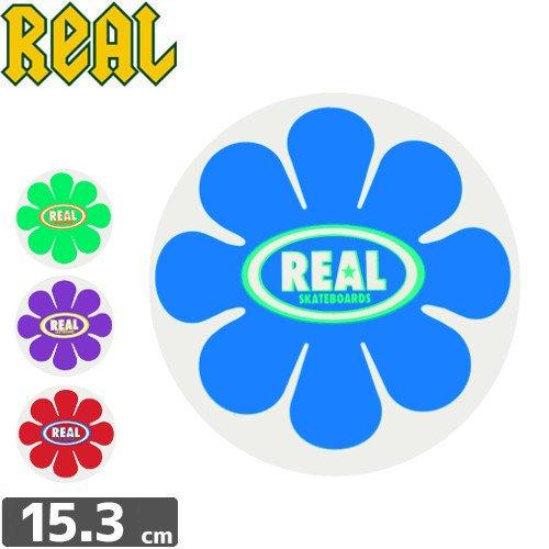 【リアル REAL SKATEBOARD スケボー ステッカー】FLOWER【4色】【15.3cm x 15.3cm】NO30
