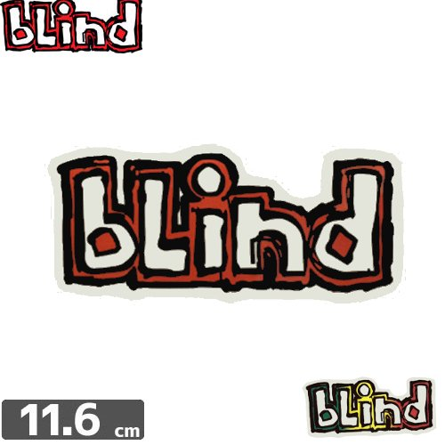 【BLIND ブラインド ステッカー】BLIND LOGO STICKER【5.2cm x 11.6cm】NO39