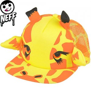 【ネフ NEFF ストリート キャップ】GIRAFFE SNAPBACK CAP【キリン】【イエロー】NO5