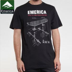 【エメリカ EMERICA スケボー Tシャツ】SCHEMATIC S/S TEE【ブラック】NO97