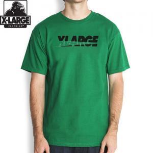 【エクストララージ X-LARGE Tシャツ】SLANTED CUT S/STEE【ケリーグリーン】NO9
