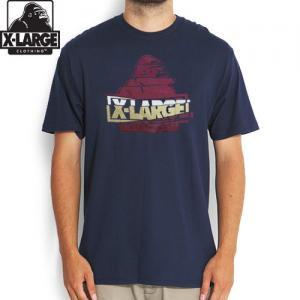 【エクストララージ X-LARGE Tシャツ】SLICE S/STEE【ネイビー】NO11