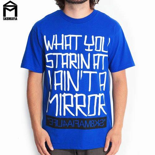 【スケートマフィア SK8MAFIA スケボー Tシャツ】SKATEMAFIA MIRROR T-SHIRTS【ロイヤル】NO28