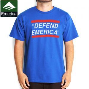 【エメリカ EMERICA スケボー Tシャツ】DEFEND EMERICA TEE【ロイヤル】NO109