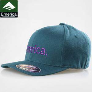 【エメリカ EMERICA キャップ】PURE 6.0 FLEXFIT HAT ベースボールキャップ【Tグリーン x パープル】NO31