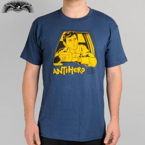 【アンタイヒーロー ANTIHERO スケボーTシャツ】REPO BUD TEE レポマン【ヘザー ネイビー】NO69