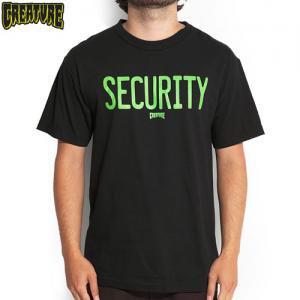 SALE! 【CREATURE クリーチャー スケボー Tシャツ】SECURITY S/S TEE【ブラック】NO88
