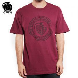 【サンダー THUNDER スケボー Tシャツ】ALL AGES ロゴ TEE【マルーン】NO49