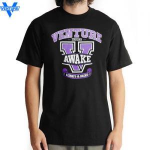 【ベンチャー VENTURE TRUCKS スケボー Tシャツ】CAMP US ロゴ TEE【ブラック】NO20