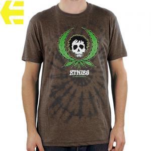 SALE! 【エトニーズ ETNIES スケボー Tシャツ】WEEDY T-SHIRS【ヘザー ブラウン】NO20