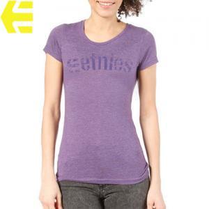 【エトニーズ ETNIES レディース Tシャツ】CORP MIX WOMENS【ヘザー パープル】NO24