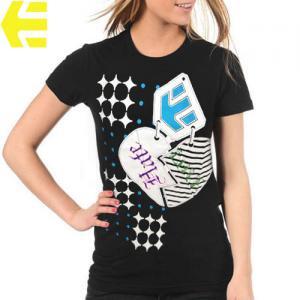 【エトニーズ ETNIES レディース Tシャツ】BREAK UP WOMENS【ブラック】NO26