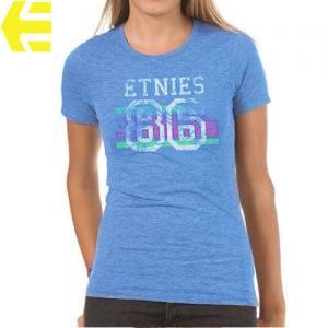 【エトニーズ ETNIES レディース Tシャツ】GOOD SPORTNIES WOMENS【ヘザー ブルー】NO27