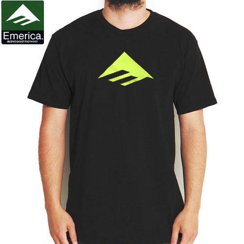 【エメリカ EMERICA スケボー Tシャツ】Triangle 7.0 TEE【ブラック】NO117