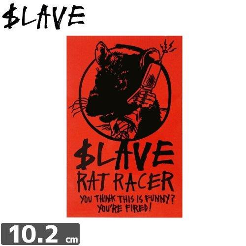 【SLAVE スレイブ スケボー ステッカー】RAT RACER【10.2cm x 6.6cm】NO09