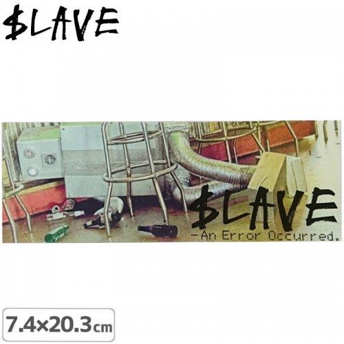 【SLAVE スレイブ スケボー ステッカー】AN ERROR【7.4cm x 20.3cm】NO13